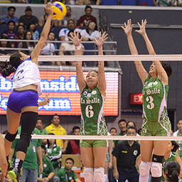 UAAP Finals: Lady Eagles draw first blood, end Lady Spikers' undefeated run
