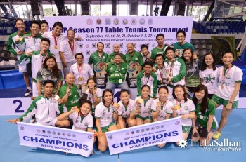 UAAP: DLSU earns double championships in Table Tennis